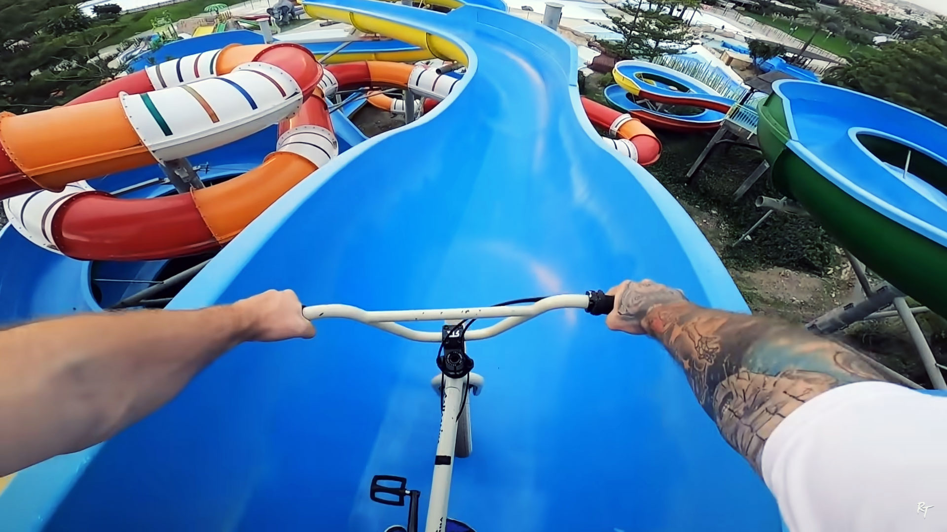 Ryan Taylor – FULL SPEED BMX IN A WATERPARK!